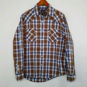 Lucky Brand Western Style Pearl Snap XL
